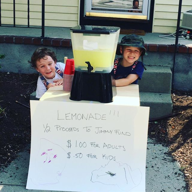 Lemonade stand, fundraising, PMC
