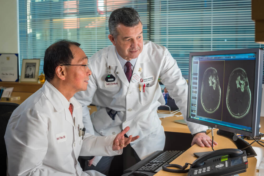 Patrick Wen, MD, and David Reardon, MD, of Dana-Farber's Center for Neuro-Oncology.