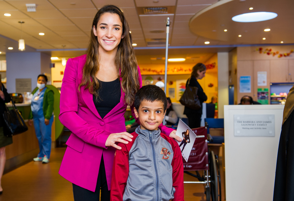 Aly Raisman, Jimmy Fund Clinic