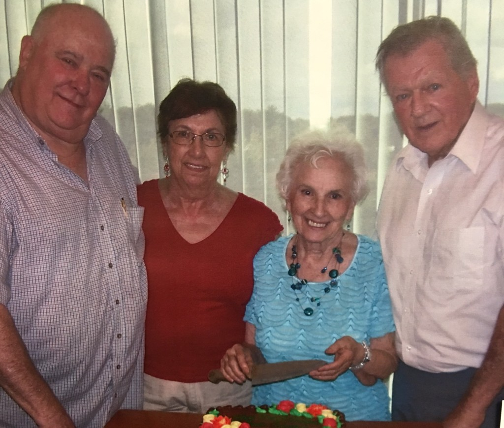 The Cancer Crusaders Coffee Hour's four founding members (left to right) – Russell Harrington, Joan Panarelli, and Mary and John Brooks – are all still active with the group after six years.