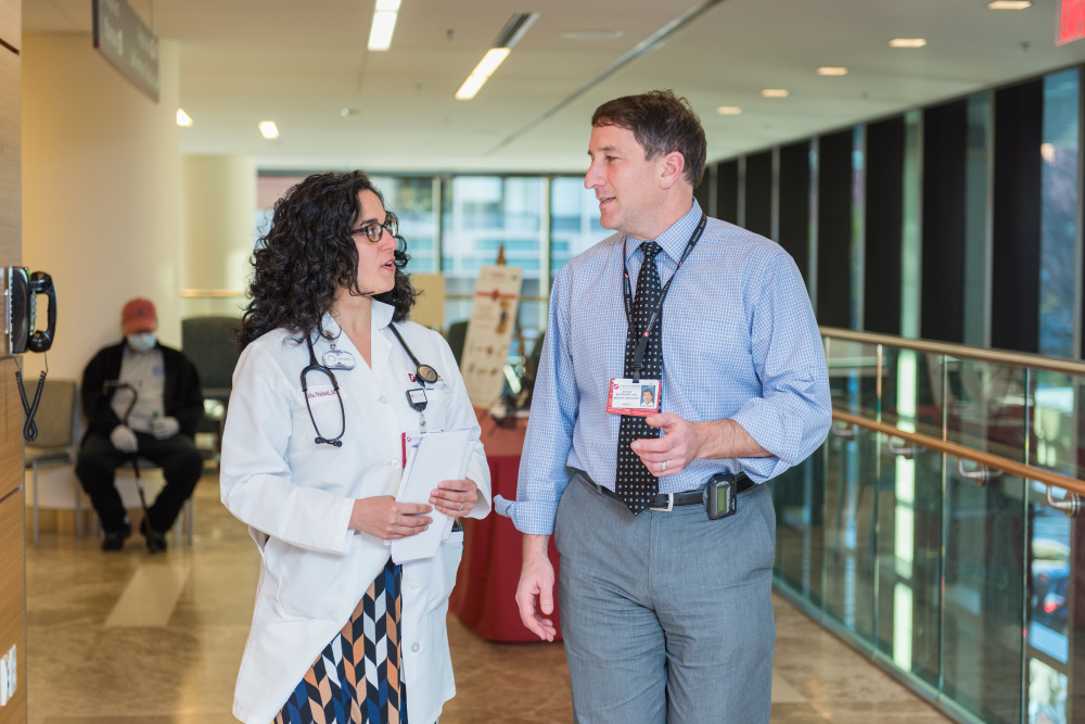 Palliative care providers including Lida Nabati, MD, are making care more seamless for patient and their providers, such as Jeffrey Meyerhardt, MD, MPH.