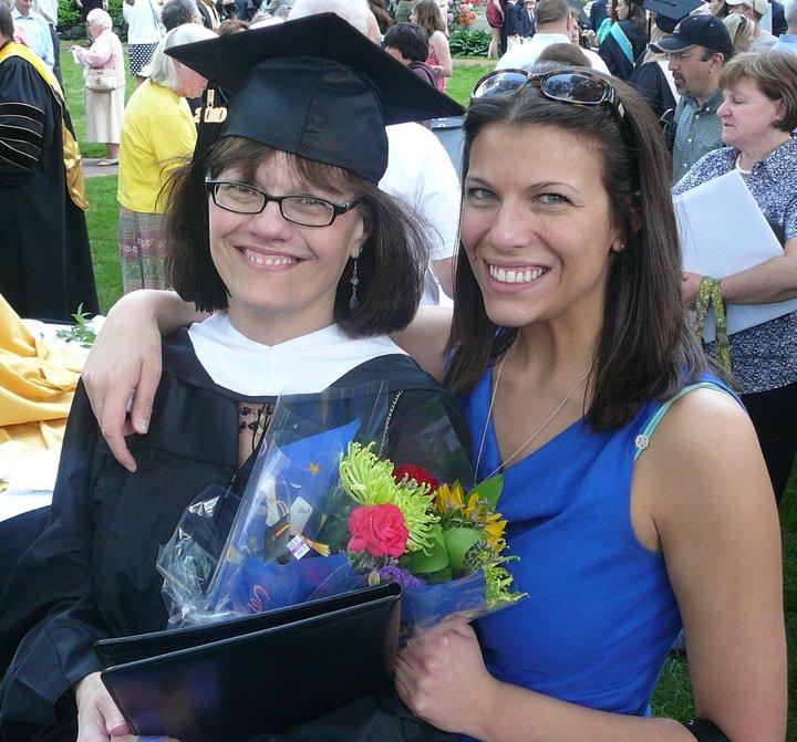 Liz and Deb graduation
