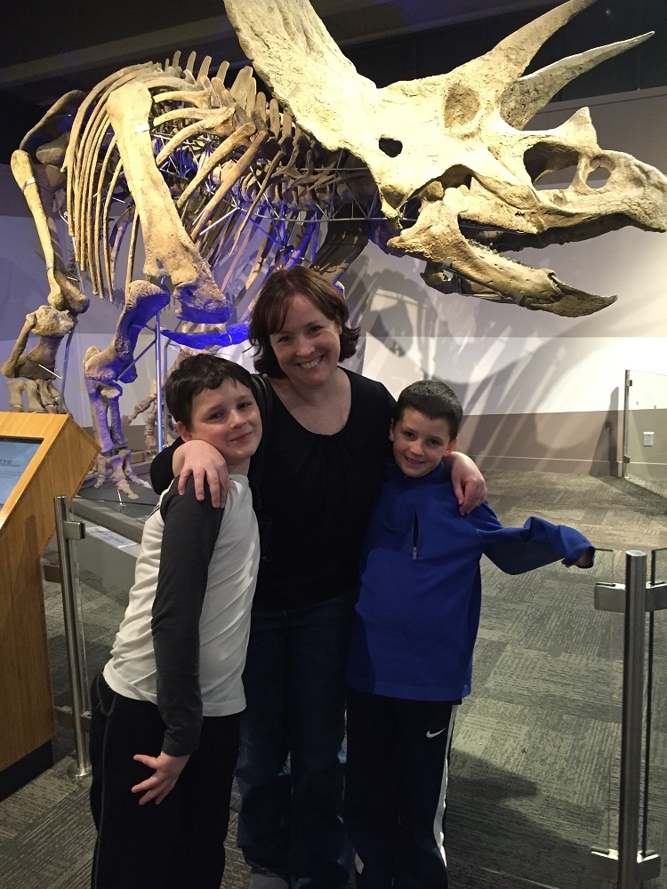 Erin with her sons.