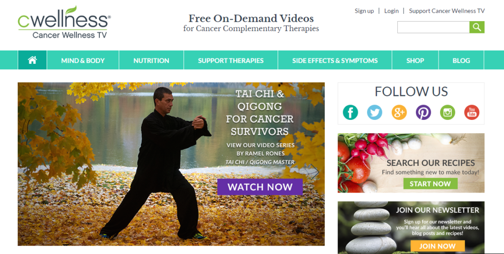 The Cancer Wellness TV website.
