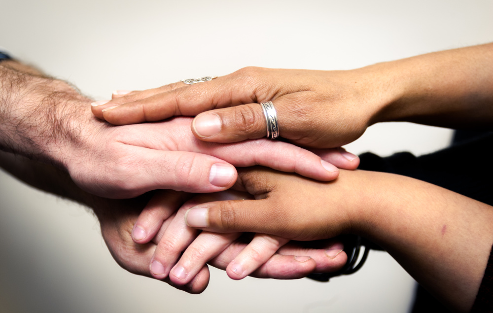 Stock photo of hands.