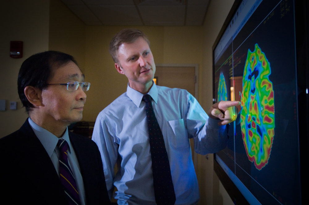 Brain tumor specialists Patrick Wen and Jan Drappatz.