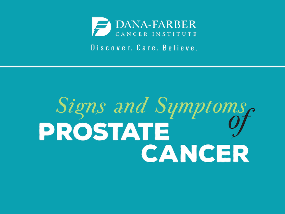 Prostate cancer symptoms.