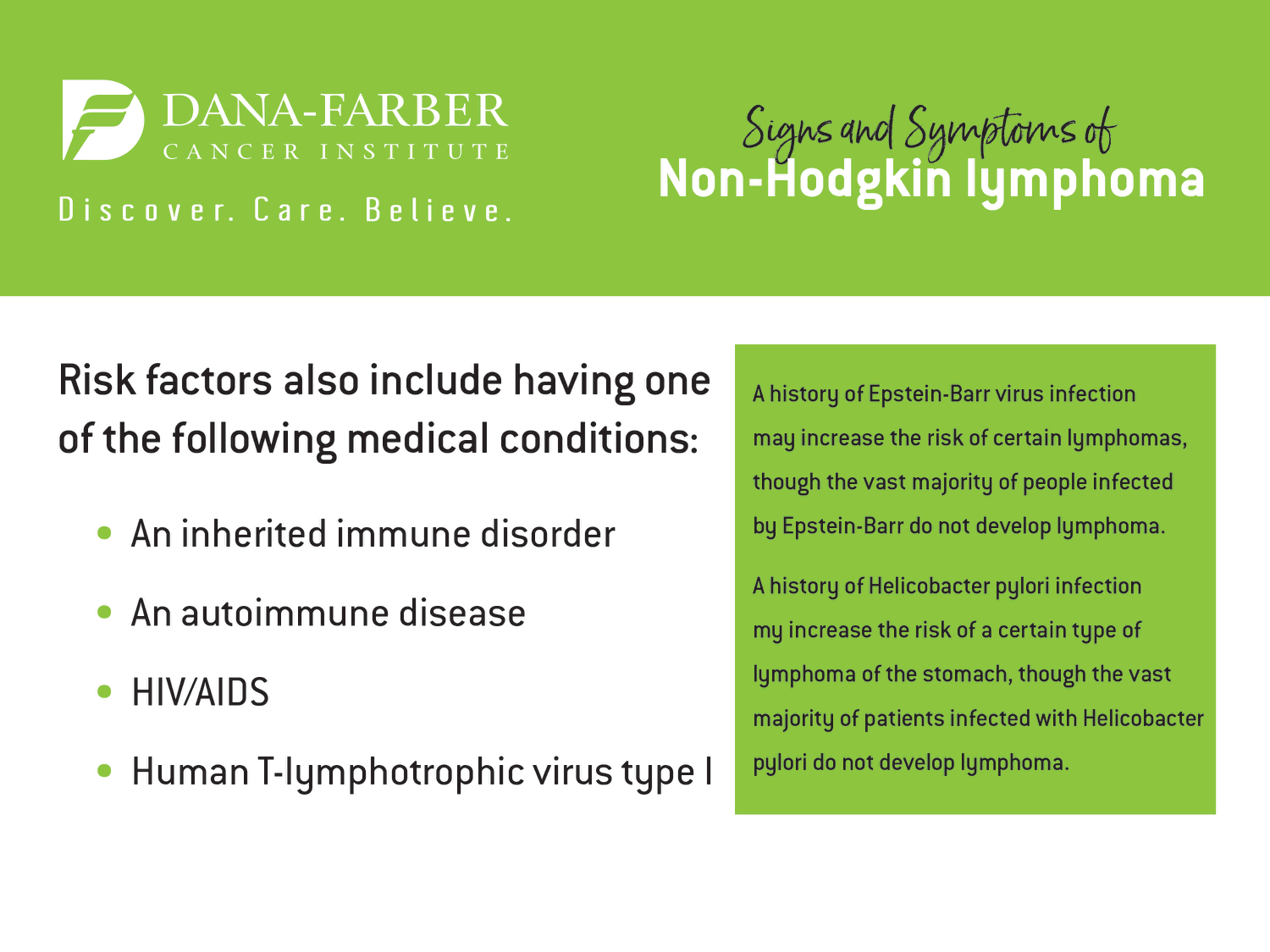 Non-Hodgkin Lymphoma Symptoms and Signs | Dana-Farber Cancer Institute