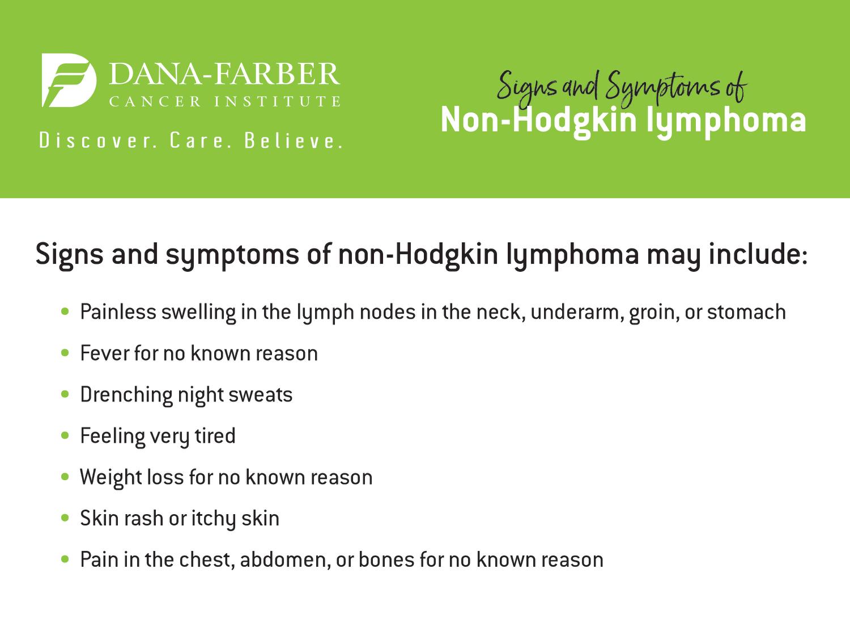 Non-Hodgkin Lymphoma Symptoms and Signs   Dana-Farber Cancer