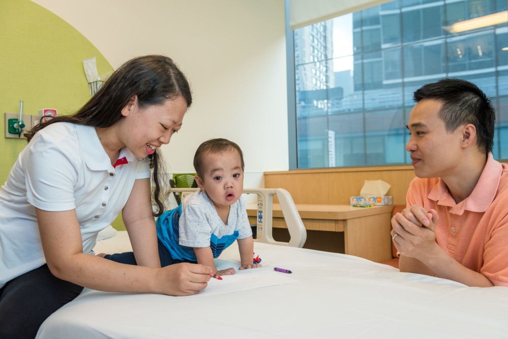 Harry's parents came to Boston from their native Vietnam in November 2016 to participate in a gene therapy clinical trial for Harry's Wiskott-Aldrich syndrome.