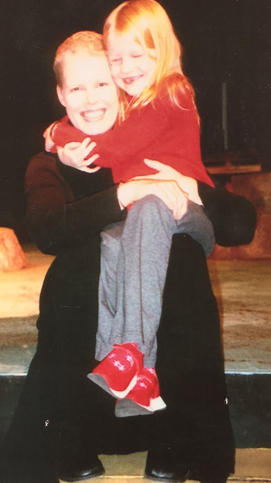 Ernst and her daughter in 2001, the year she was diagnosed with breast cancer.