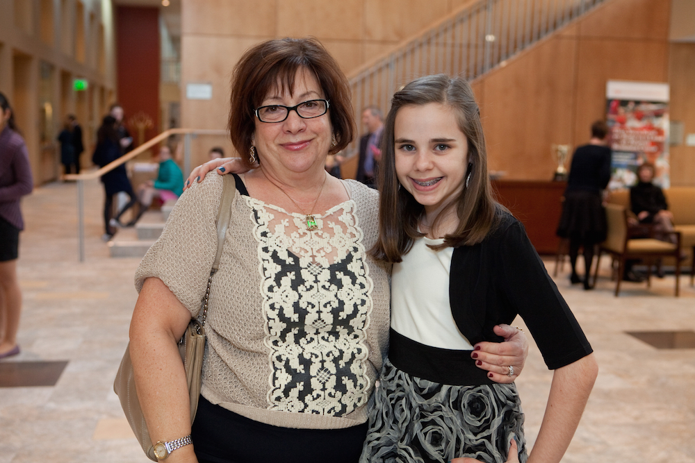 More than five years after Hannah's active treatment ended, Berk was a special guest at her Bat-Mitzvah.
