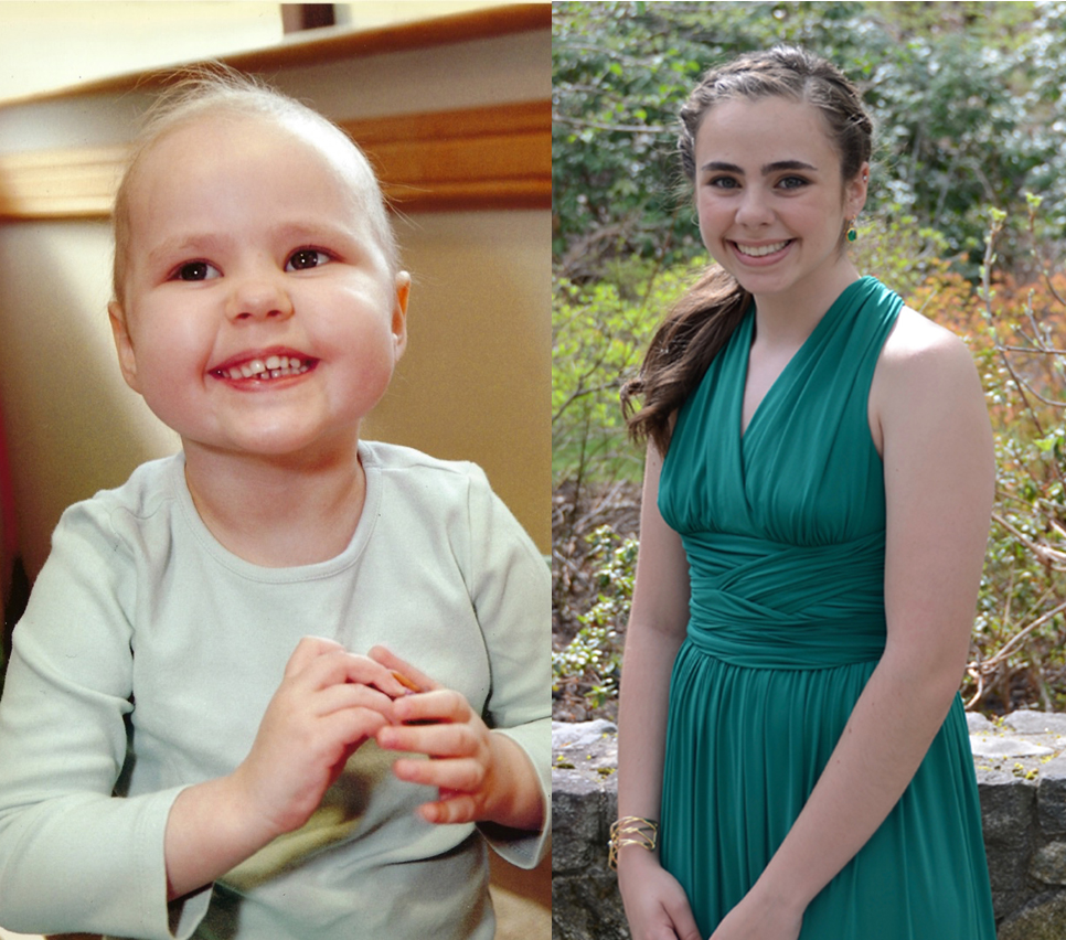 From young patient to college student, Hannah has been all smiles with the support of her family and caregivers.