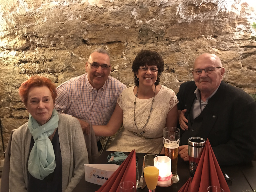 During their visit to Germany, Chuck and Debbie Vanada (center) got to meet the parents of Chuck's stem cell donor, Tobias Gillmann.