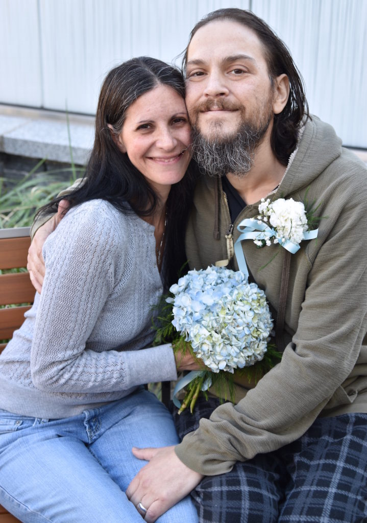 The couple, which originally met in high school, reconnected around 2010 and had put off getting married when Anthony was diagnosed with Stage IV metastatic cholangiocarcinoma cancer (also known as bile duct cancer) two years into their relationship. Photo by Jennifer Shepherd