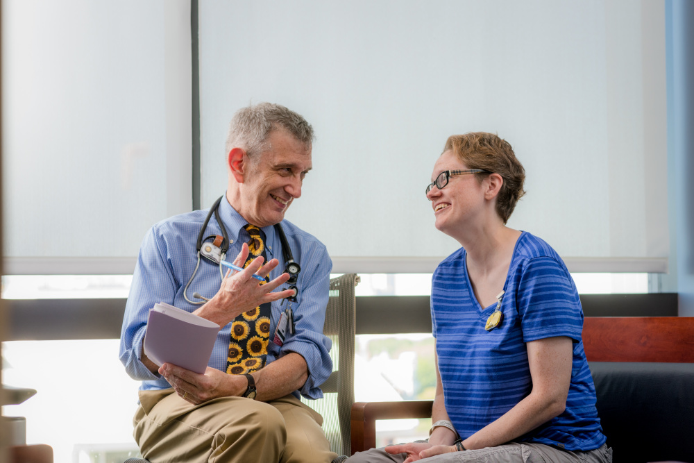 Patient Carla Breen with palliative care physician John Halporn, MD.