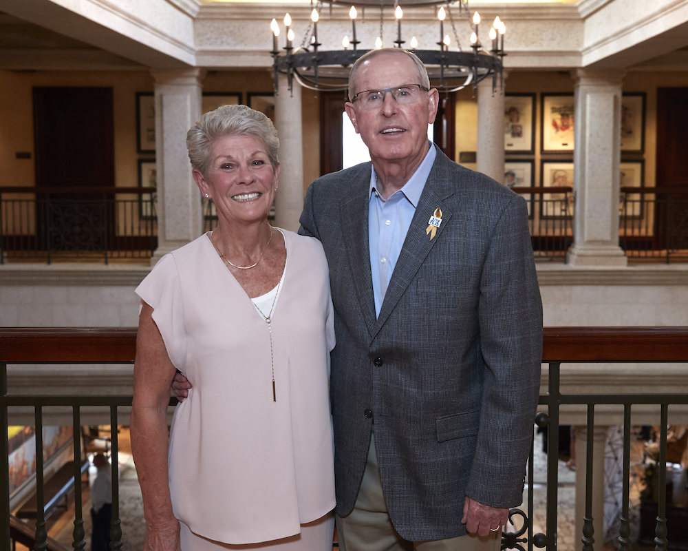 Tom Coughlin and his wife, Judy.
