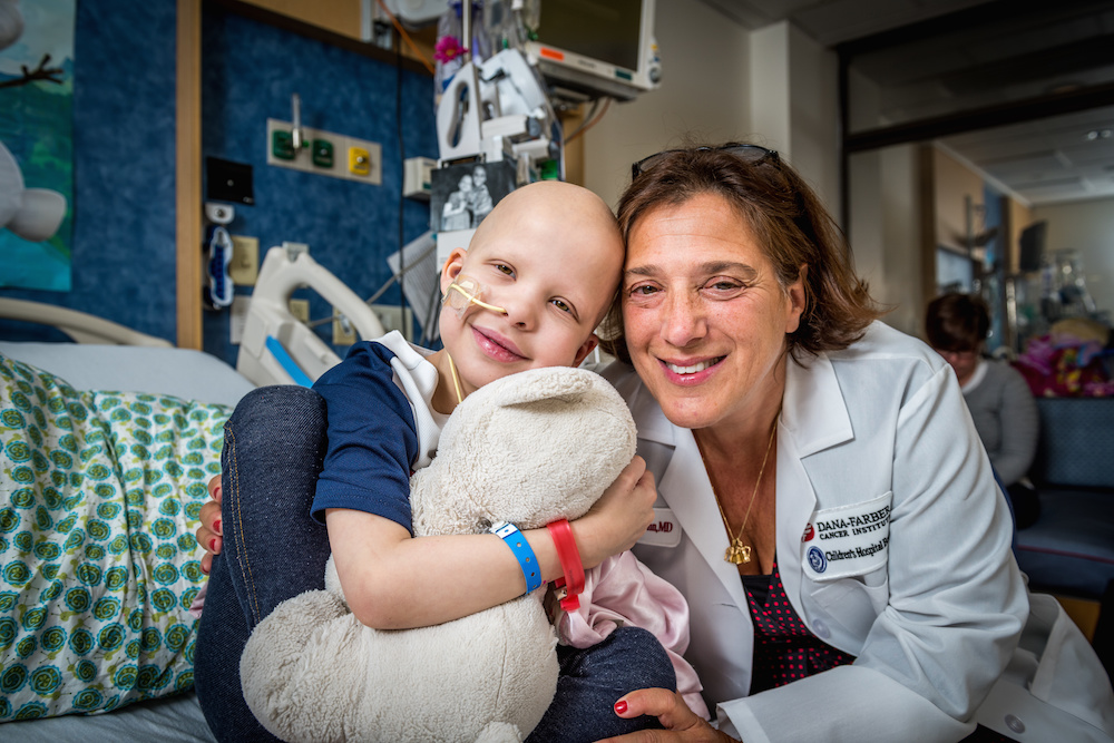 Pediatric leukemia patient Emma Duffin and Leslie Lehmann, MD, of Dana-Farber/Boston Children's Cancer and Blood Disorders Center.
