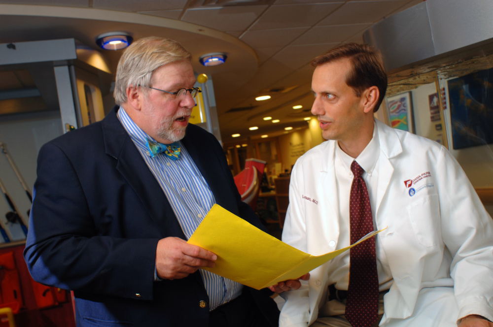 Holcombe E. Grier, MD, and Lewis B. Silverman, MD, of the pediatric hematology and oncology team at Dana-Farber/Boston Children's Cancer and Blood Disorders Center.