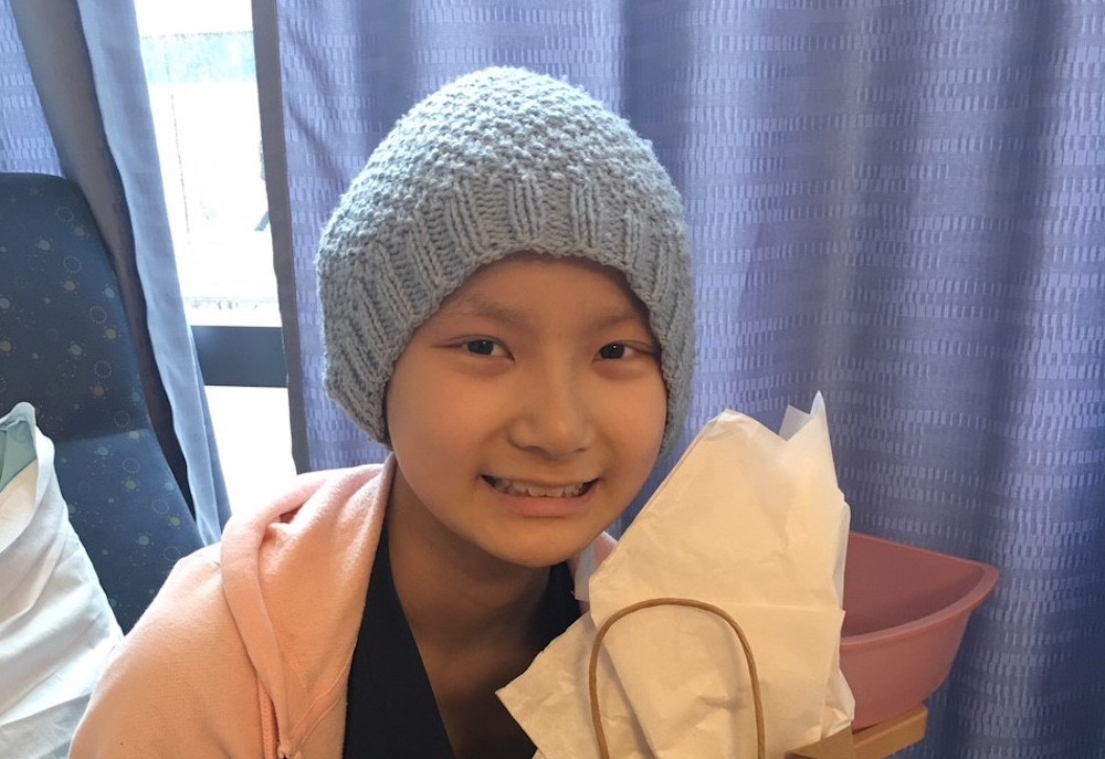 Metastatic Ewing sarcoma patient Amelia Zai.