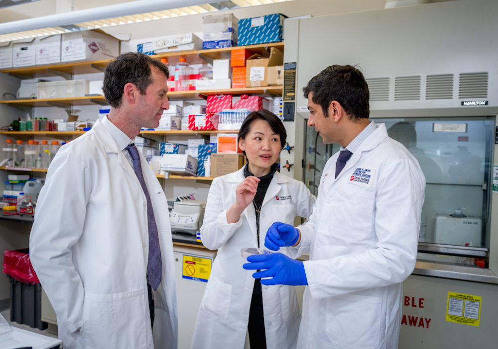 Dana-Farber researchers Ian Krop, MD, PhD, Jean Zhao, PhD, and Shom Goel, MD, PhD, led a study that found drugs that can overcome drug resistance in HER2-positive breast cancer.