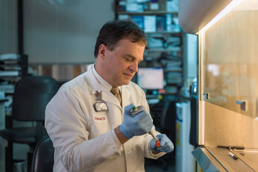 Research led by F. Stephen Hodi, MD, showed that injecting a virus into melanoma tumors made checkpoint inhibitor immunotherapy more effective.