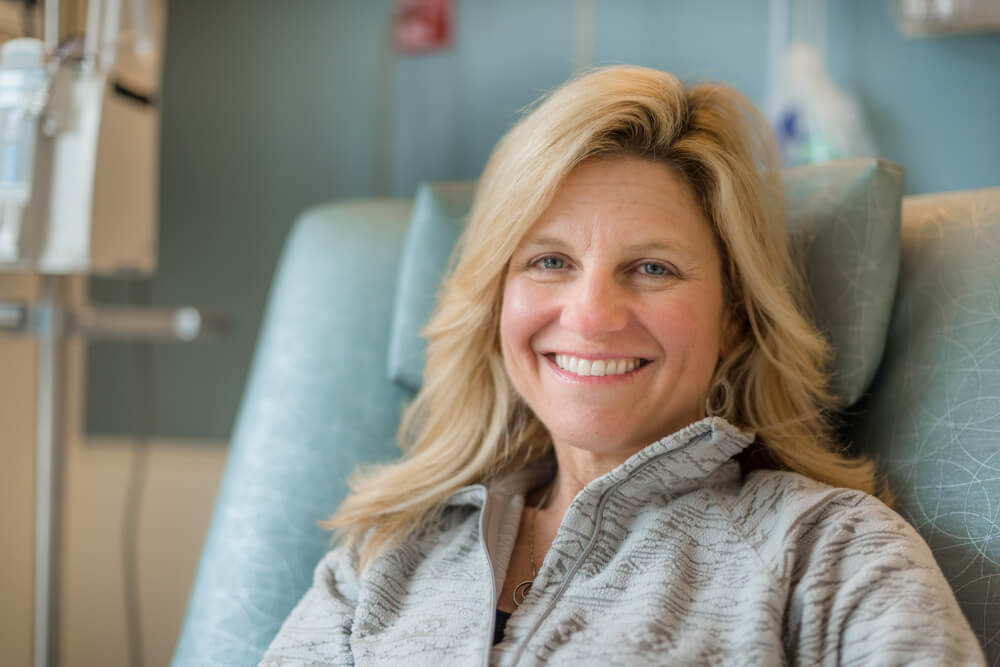 Acra Samuels came from Montana to Dana-Farber for treatment with an experimental drug that has shown remarkable effectiveness for a variety of cancers with a certain mutation.