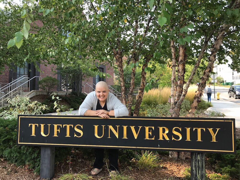 Wisnia at Tufts University in Medford, Massachusetts.