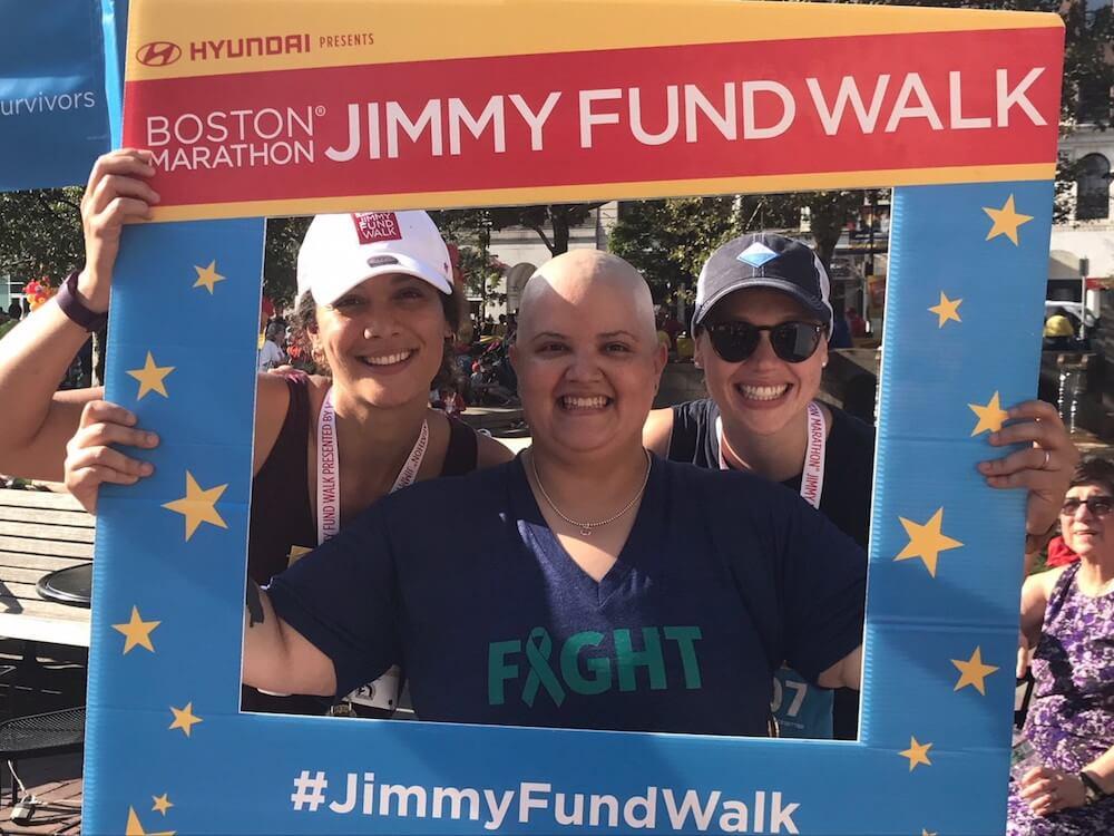 Wisnia at the Boston Marathon® Jimmy Fund Walk.