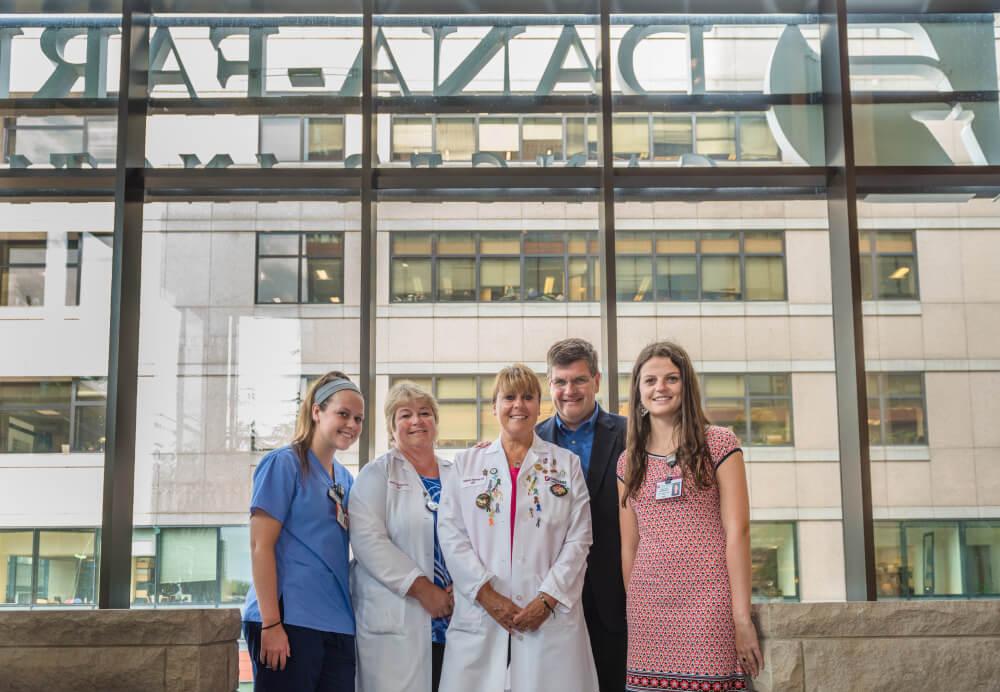 Erin Morrissey, Mary Delaney, RN, BSN, Stephanie Morrissey, RN, OCN, Thomas Morrissey, and Mary Kate Morrissey