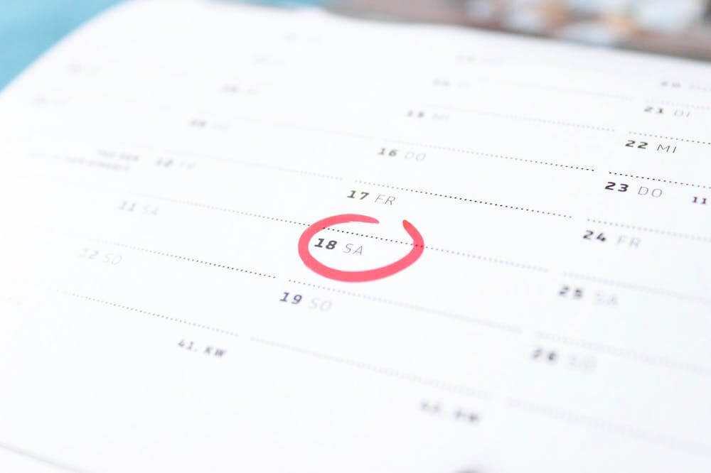 Calendars can be a helpful tool for staying consistent.