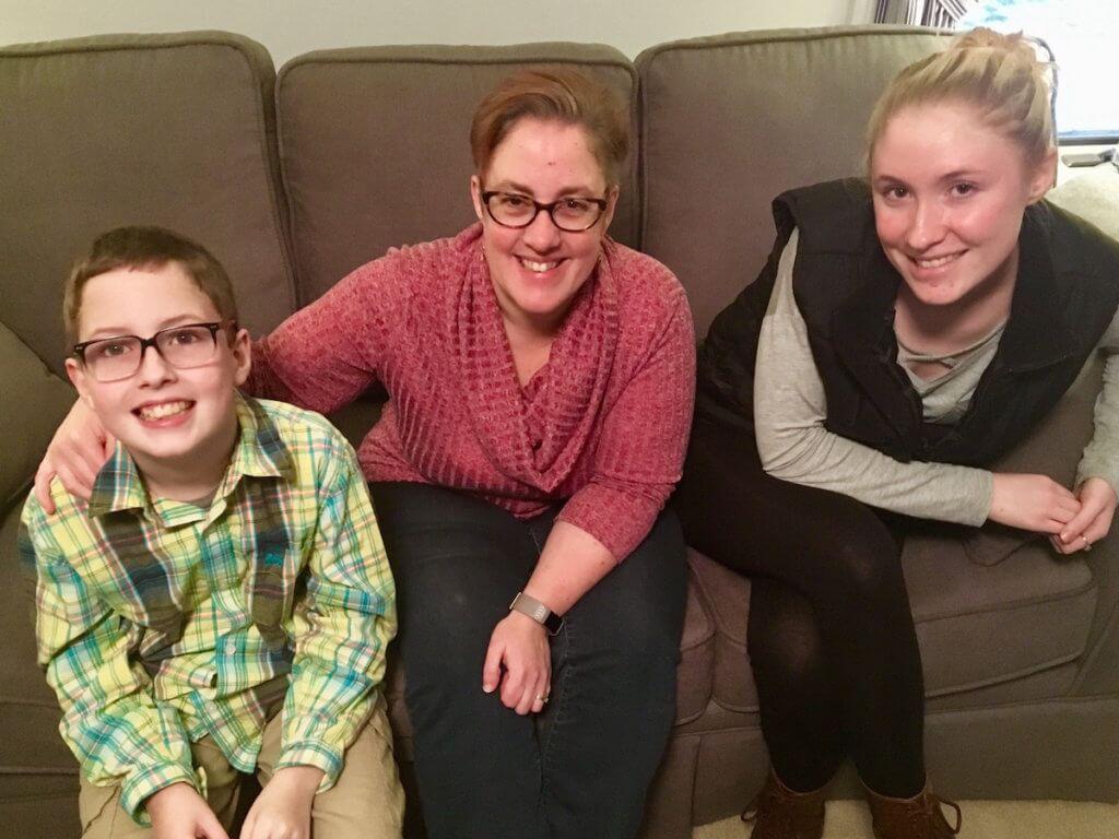 Jessica Audette and her children.