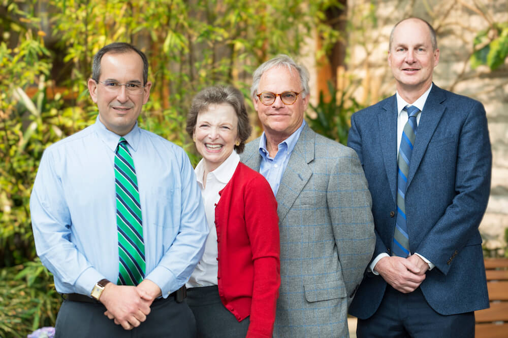 Left to right: Eric Jacobsen, MD, Patty Reid, Doug Reid, Edwin Alyea, MD.