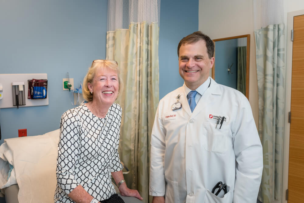Mary Gooding and F. Stephen Hodi, MD.