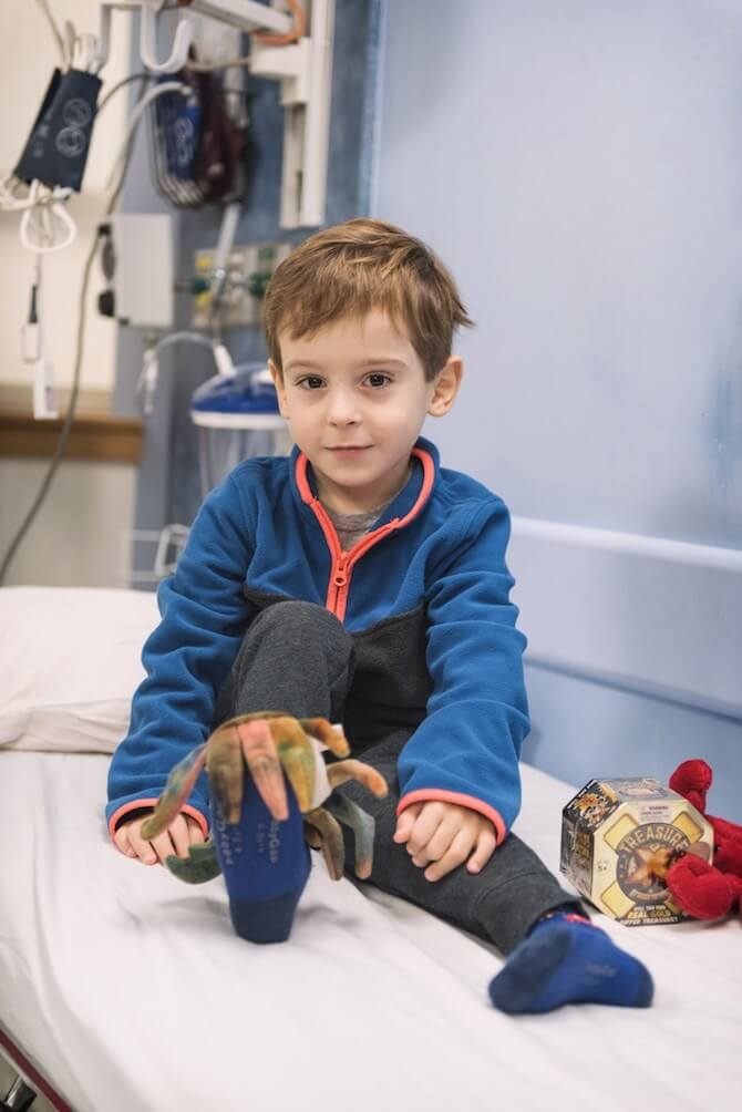 Jack just before his monthly transfusion. (Photo: Michael Goderre)