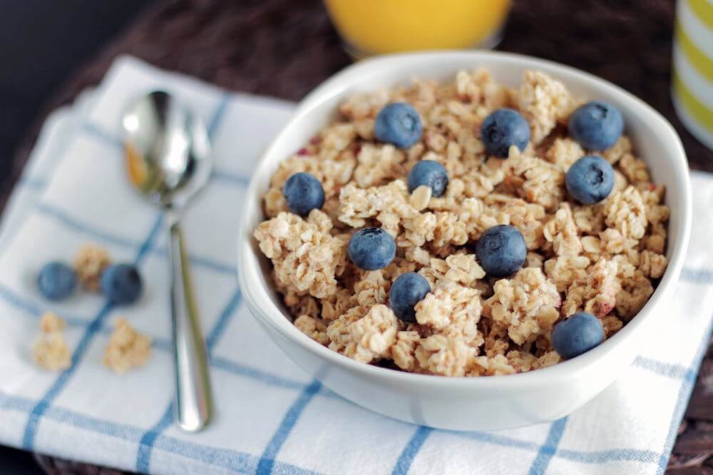 Oatmeal may be tolerated better than other heavy meals.
