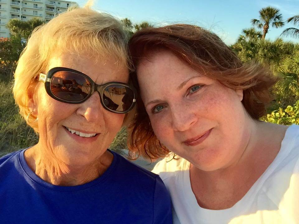 Kerry Evers (right) with her mother, Marybeth.